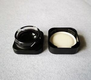 Nouveau Arrivée Cube Pot en verre de concentré de verre Premium bocaux en verre Cire Dab huile Container Jar Cube place Livraison gratuite GCJ01
