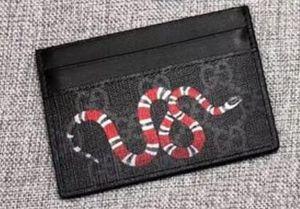 2020 Diseño clásico del Mens de la manera europea cuero de la tarjeta Monederos los titulares Bolsas Imprimir abeja serpiente tigre Hombres Pequeña tarjeta de crédito Carteras N451277