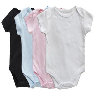 A001 AbaoDo nova chegada 100% algodão bebê simples macacão crianças manga curta bodysuit recém-nascido top roupas onesies qualidade