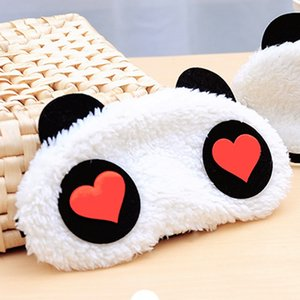 1x Panda Face Eye Travel Sleeping Mask Blindfold Regalo di Natale Bianco + Nero
