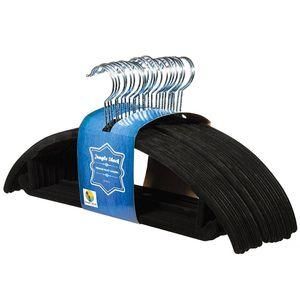 Флокирование вешалка Non скольжению ветрозащитной Вешалка Поворотный крюк Пластиковых Coat Hanger Нет Трассировку Pant Вешалка для одежды поддержки стойки VT0401
