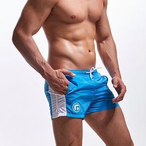 Mens Trunks Swimwear Swimming For Men Patchwork Gay Swimsuit Swim Briefs Quick Dry Surfing Suit Beach Shorts Sunga J190715