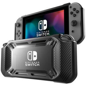 Pour Nintendo commutateur Bouton curseur hôte un protecteur Shell commutateur en caoutchouc de silicone étui de protection avec fente pour carte de jeu
