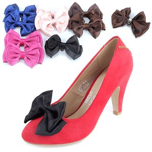 1 Pair Fashion Satins Bow Tie For Women Shoes Faux Silk Bowknot Butterfly Halloween Wedding Removable Bowtie Necktie