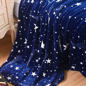 Süper Yumuşak Sıcak Katı Sıcak Mikro Peluş Polar Battaniye Kilim Koltuk Yatak Fanila masaj battaniye ev tekstil dropshipping atın