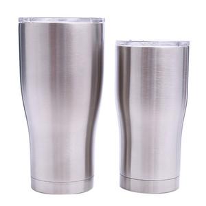 Paslanmaz çelik kıvrık tumblers 30 OZ 20 OZ çift duvar vakum bel şekli su bardaklar yalıtım bira kahve kupalar MMA1908