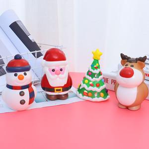 Медленные Squishy Игрушки Для Санта-Клауса Снеговик Корова Рождественская Елка Декомпрессионные Ремесла PU Игрушки Рождественские Украшения Подарок Партии Favor XD21255