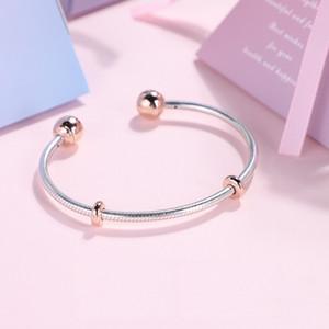 Nouveau 100% 925 bracelet en argent sterling bracelet 588291 avec LOGO gravé pour Pandoras charmes européens 10 pcs / lot vous pouvez mixte taille