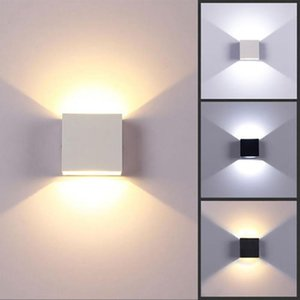 KEY-WIN Adjustable 6W LED Wall Lamp Waterproof Indoor & Outdoor Aluminum Wall Light Surface Mounted Cube LED Garden Porch Light