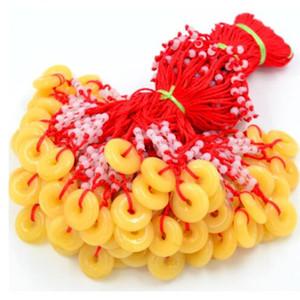 Toptan doğal 5 adet doğal taş yuvarlak donut yüzük kolye Boncuklu kolye küpe takı charm moda