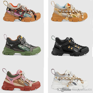 Printemps Summer Plate-forme Casual Chaussures Fashion Fleurs Sports Diamonds Femme Chaussures Loisirs Loisirs Lacet Bowling Bowling Chaussure Taille 35-42-45