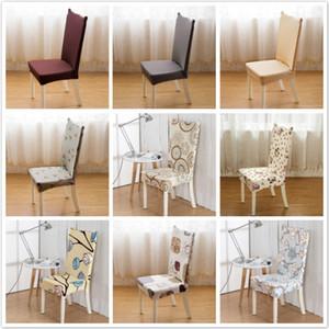 Europa Style Stampato sedia della copertura Ristorante festa di nozze del braccio Copertura della sedia dello spandex di seduta per sala da pranzo cucina 1PC