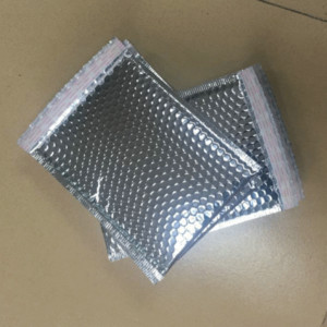 Prata Bolha preta Envelope Mailer Embalagem bolha envolope Bag frete grátis pequena Poly saco acolchoado plástico 11x11cm 18x23cm 25x30cm