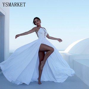 Ysmarket Летняя Мода Кружевное Платье Женщины Белое Длинное Платье Сексуальная Женская Одежда Vestidos Branco Подтягивающее Платье E804 Y19073001