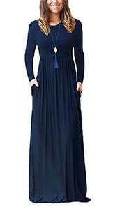 Primoda Женское повседневное макси-платье с карманами Обычная свободная футболка с коротким рукавом Длинные платья
