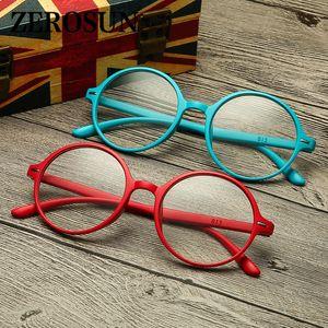 Zerosun Round Reading Glasses Women Men 2 Pcs lot Diopter Presbyopia Eyewear