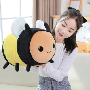 Kawaii Fuzzy Bumblebee Bee Pillow Toys Cute Stuffed & Plush Animals Stuffed Animals & Plush Honey Bee Toys Ladybug Ladybird Soft Pillow Cush