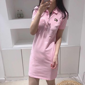 Fashion Womens Brand Polo Dresses 2020 New Arrival Summer Women Shirt Dresses Hot Sale Polos Casual Tops Streetwear 5 Colors YF203142