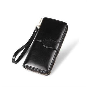 Madonno 2018 New Design Wallet Women Leather Purse Card Holder Long Lady Large Capacity Female Wallet Zipper Carteira Feminina Y19051702
