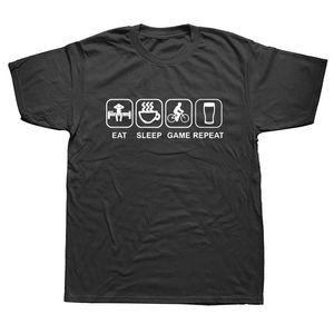 Ropa de marca Wake Coffee Rider Beer Bicycle Funny T Shirt Camiseta de algodón de manga corta camiseta Top Camiseta