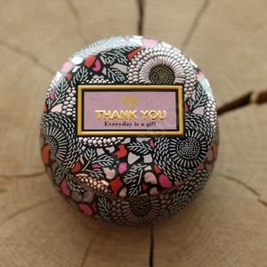 Цветочный чай чехол стекла подсвечник Золочение Оригинальность Tin Multicolor конфеты коробка свадебные церемонии Подарки для хранения Коробки ZZA1362