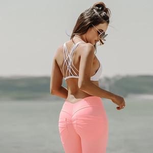 Frauen Scrunch Butt Leggings für Fitness Hüfttasche Workout Sport Leggings Push Up Skinny Pants Kausale Hose Slim Black