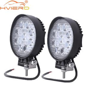 4inch 27w 사각형 라운드 led 작업 빛 4 x 4 자동차 트럭 홍수 스포트 빔 자동차 LED 헤드 라이트 오프로드 자동차 헤드 라이트