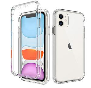 Защитник полный корпус 360 ясно мобильный телефон защитный чехол противоударный чехол для iPhone 11 Pro Max XS XR 8 7 плюс