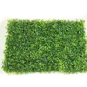 Yapay Plastik Milan Green Grass Greenery Dekorasyon Asma Wall çimenler Bitkiler