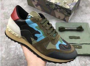 [Original Box] Mode-Bolzen-Camouflage-Turnschuhe Schuhe Männer Frauen Wohnungen Schuhe Laufschuh Rockrunner Turnschuhe Freizeitschuhe