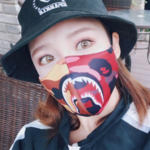 Máscara nuevo patrón tiburones populares Empalme color Boca cubierta Hombre Mujer de la manera creativa Máscaras fábrica Direct Selling 5 65hp p1
