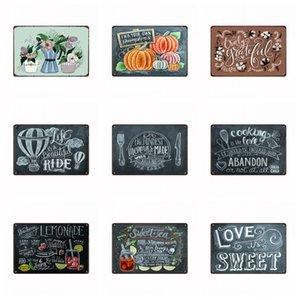 Latas Signo Tiempo Libre Limonada Dulce Té Amor Hermoso Viaje Retro Decoración de Pared Rústica Vintage Cartel de Lata Cafe Tienda Bar Decoración para el hogar k1