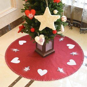 Hifuar 100cm Kat Mat Yün Keçe Kilim Parti Ev Dekorasyon Merry Christmas Ağacı Etek Ev Natal Ağacı Etekler Yeni Yıl