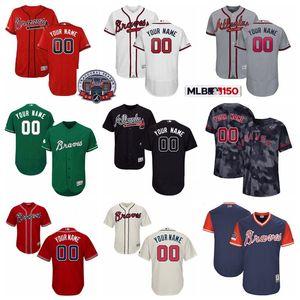 Baseball Flexbase 5 Freddie Freeman Jersey 1 Ozzie Albies 22 Nick Markakis 13 Ronald Acuna Jr. 20 Josh Donaldson 11 Inciarte Custom Name