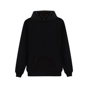 2019 Latest Hooded Sweatshirt High Quality Black Hoodies Solid Color Clothing Hip Hop Pullover Hoodie 4XL Plus Size Streetwear Y200519