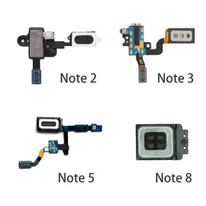 Para Samsung Galaxy Note 2 3 4 5 7 8 Fone de ouvido Alto-falante fone de ouvido pedaço Headphone Jack de áudio Proximity Sensor Flex Cable Parts