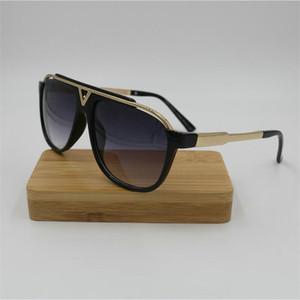 neuester Verkauf populäre Art und Weise Männer Designer-Sonnenbrille quadratischer Metallkombinationsrahmen Top-Qualität anti-UV400 Objektiv Sonnenbrille