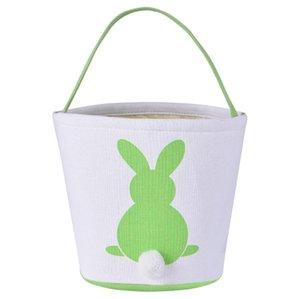 Pascua cesta del conejito del conejo de cola Orejas barril bolsas de dulces Cestas Kids Party Festival de caramelo Huevos de Pascua de almacenamiento totalizadores conejito bolsos