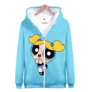 Kawaii Cute Girls 3D Zipper Hoodie Sweatshirt Women Kawaii Anime Clothe Long Sleeve Zipper Streetwear Casual Plus Size