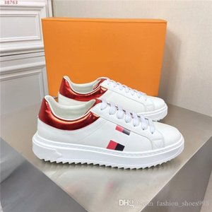 Mens new classic casual sport shoes, white leather sneakers, Red tail Wear resistant non-slip soles sports shoes With box 38-44