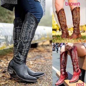 женщины колено высоких сапоги среднее меда пятка круглый носок этическая обувь женщина chaussure Zapatos Mujer гладиатор марочные PU девушка пинетки HP2089