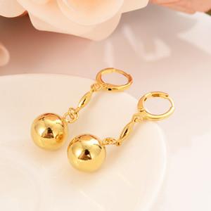 24 Karat Gold Dubai indischen Ball Braut Damen Schmuck Schmuck Ohrringe Hochzeit Engagement Geschenk zu gedenken