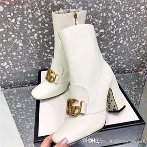Женщины последние ботинки с толстыми каблуками и на высоких каблуках в 2019, Классический перемешивать голеностопного загрузки Леди Повседневная обувь в лакированной кожи Высокий каблук насосы