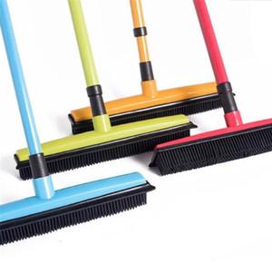 Nouvelle maison en caoutchouc Broom poils d'animaux Lint Enlèvement Dispositif télescopique Soies Magic Clean Sweeper Raclette Scratch Poil long Pousser Broom