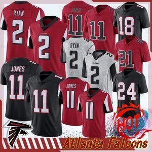 Falcon 11 Julio Atlanta Maillots Jones 21 Deion Sanders 2 Matt Ryan 18 Ridley Jersey limitée 24 Devonta Freeman nouveaux maillots de football