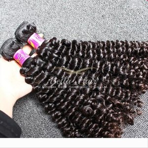 Designer Grade 9A Natural Black Curly Hair Weft 10-24 inch 2pcs lot Hair Extentions Top Quality Malaysian Human Hair Free
