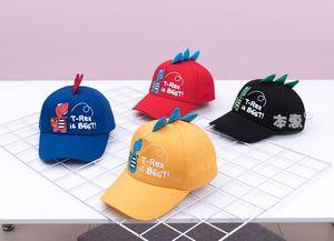 Four Color Cartoon Dinosaur Shape Baseball Cap Baby Boys Girls Adjustable Breathable Soft Sunshade Hat Children Cool Cap