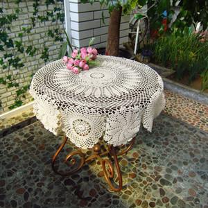 Round Cotton Hand Crochet Doilies Placemats Tablecloth Doilies 70cm