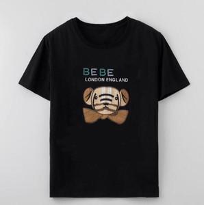 Новые мужские дизайнерские футболки логотип 2020 летние футболки с медвежьими буквами модные брендовые рубашки с короткими рукавами Мужчины Женщины пара топы оптом