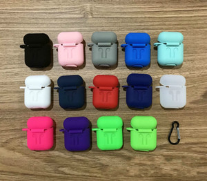 17colors For Pods Protective Shockproof Silicone Case Pouch With Anti-lost Strap Dust Plug Retail Package For Bluetooth Earphone